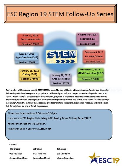 STEM session flyer