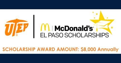 UTEP McDonald's El Paso Scholarships