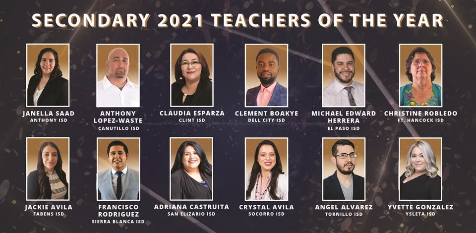 Secondary Teachers of the Year 2021