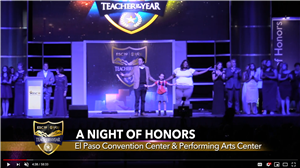 Screen shot of ESC region 19 awards in 2018 at the El Paso Convention Center