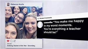 Screenshot of Teacher of the Year video called Gone Viral