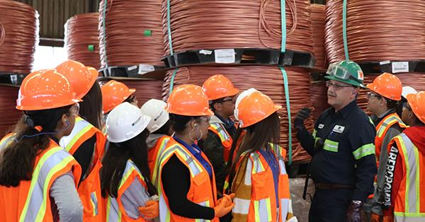 Gear Up Students Visit Copper Refinery for Gear Up Work-Based Learning