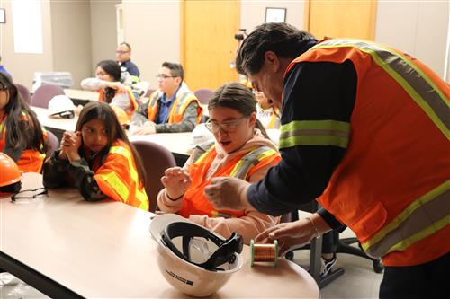 Over sixty 7th grade students from San Elizario ISD Ann M. Garcia-Enriquez Middle School (GEMS) attended Freeport-McMoran, on