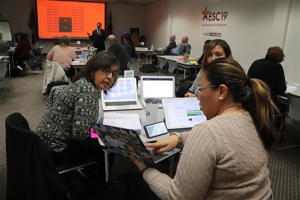 (Teachers at ESC19 Eduphoria Training, 2019)