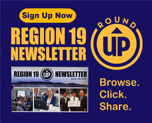 Region 19 Newsletter Link to Sign Up