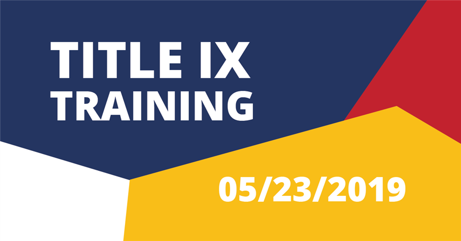 5/23/2019—Title IX Training