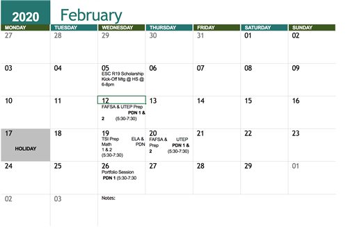 Feb events